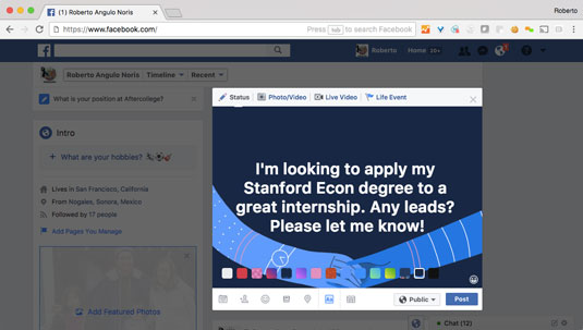 How to Leverage Facebook for Your First Job Search - dummies