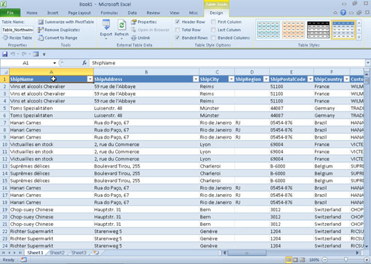 How to Query an Access Database Table in Excel 2010 - dummies