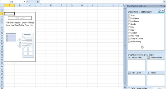 how to create a pivot table in excel 2010 dummies