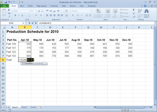 Automatically calculate formulas excel 2010