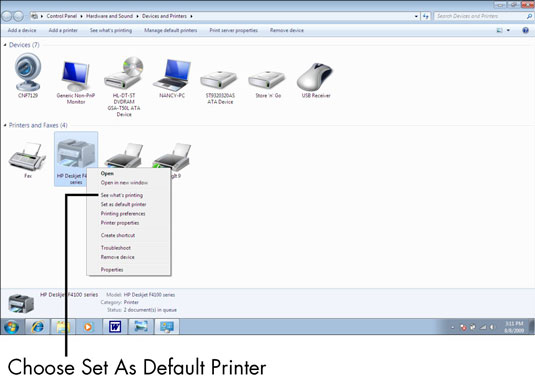 For Seniors: How to Set a Default Printer - dummies