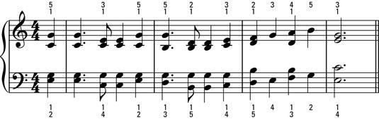 A full, choir-like harmonic treatment.