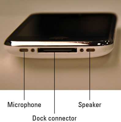 The top of an iPhone 3G or 3GS.