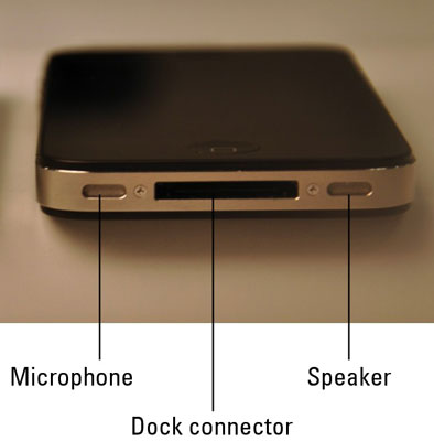 The top of the iPhone 4.