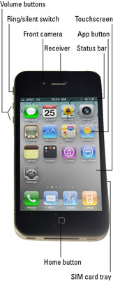 The front of the iPhone 4.