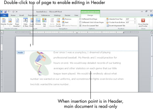 How to Use Headers and Footers in Microsoft Word - dummies