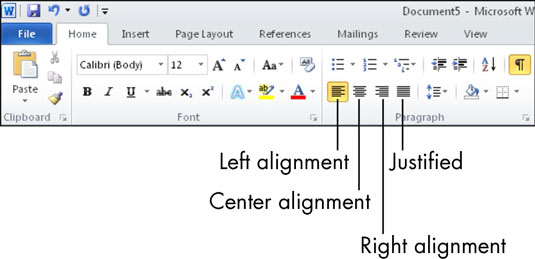 For Seniors: How to Align Text in Microsoft Word - dummies