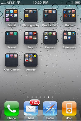 how to organize your iphone 4s icons into folders dummies