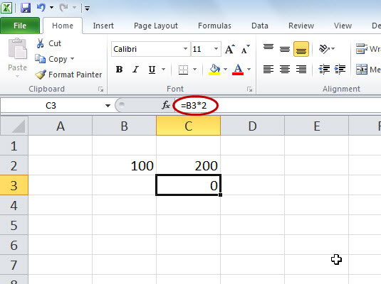 Using Absolute and Relative References in Excel 2010 Formulas - dummies