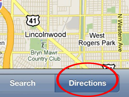 how to get walking directions with the iphone maps app