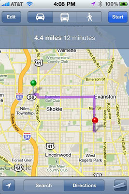 How to Get Walking Directions with the iPhone Maps App - dummies Directions To And From Maps on