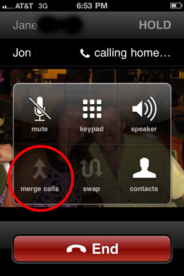 how to make a conference call using iphone 5