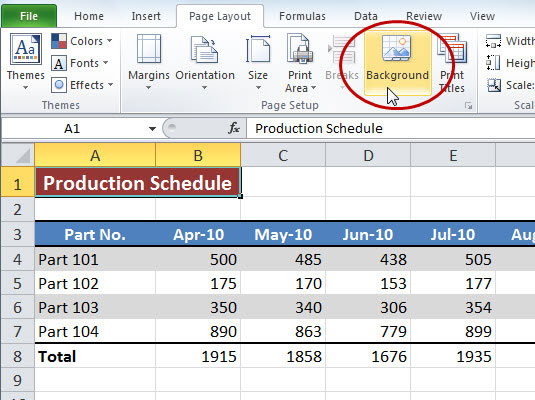 How to Add a Background Image to an Excel 2010 Worksheet ...