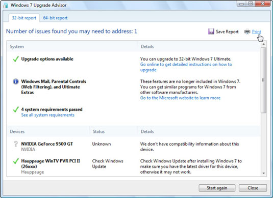 windows 8 upgrade advisor for vista