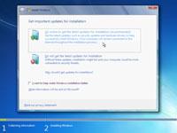 The Windows 7 installation wizard.