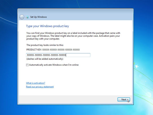 how to change windows 7 key after activation