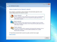 Settin the network location for a Windows 7.