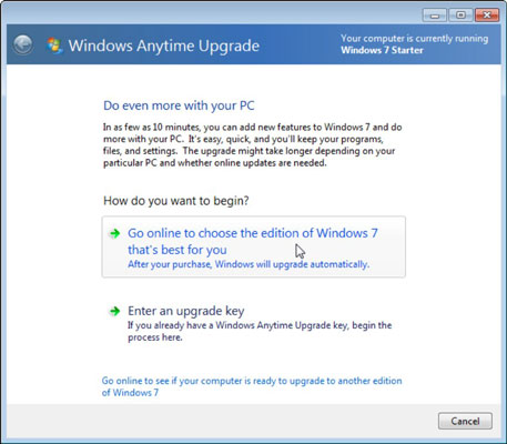 windows 7 pro anytime upgrade key