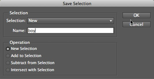 Save your selection for later use to save time and effort.