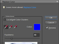 Using the Replace Color Command in Photoshop Elements 9