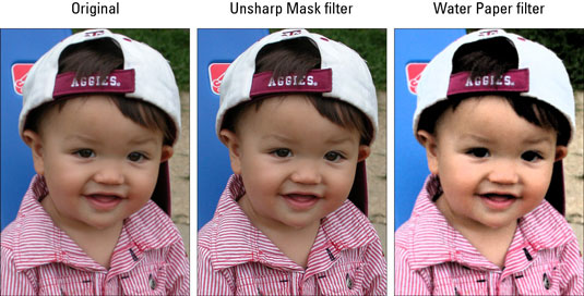 Use filters to correct image imperfections or to completely transform images.