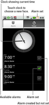 How to Set an Alarm on Your Droid X - dummies
