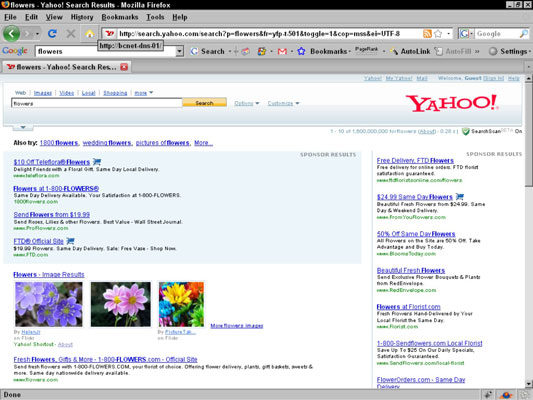 A screenshot of a Yahoo! ad