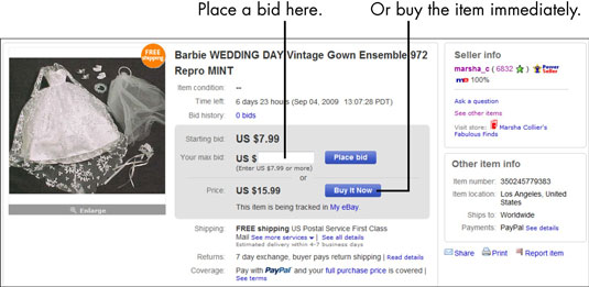 For Seniors: How to Bid on an eBay Auction - dummies