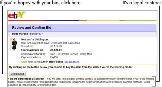 For Seniors How To Bid On An Ebay Auction Dummies