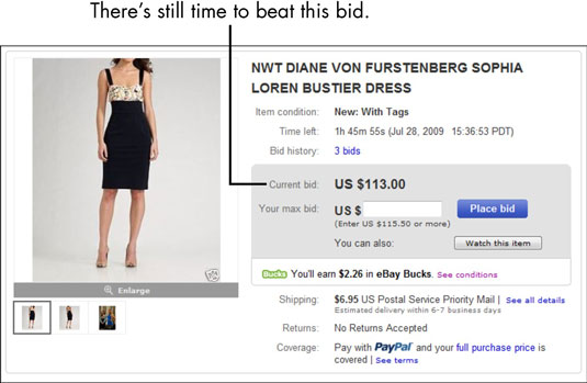 How Ebay Auctions Work Dummies