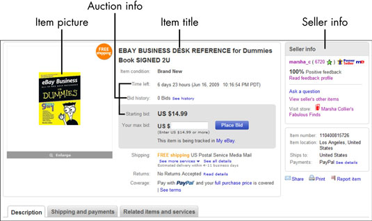 How To Read An Ebay Listing Dummies