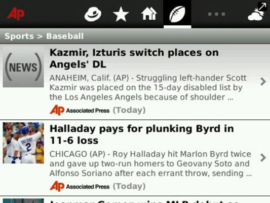 BlackBerry Apps for News and Sports Updates - dummies