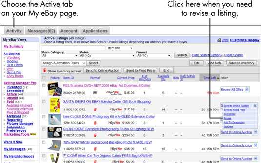 For Seniors How To Correct A Current Ebay Listing Dummies