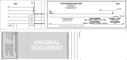 A business voucher check is used by many businesses that manually write out their checks. [Credit:
