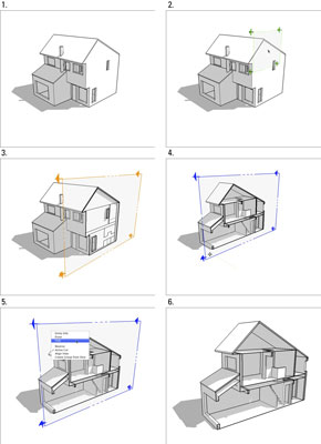 How to Cut Plans and Sections in Google SketchUp 8 - dummies