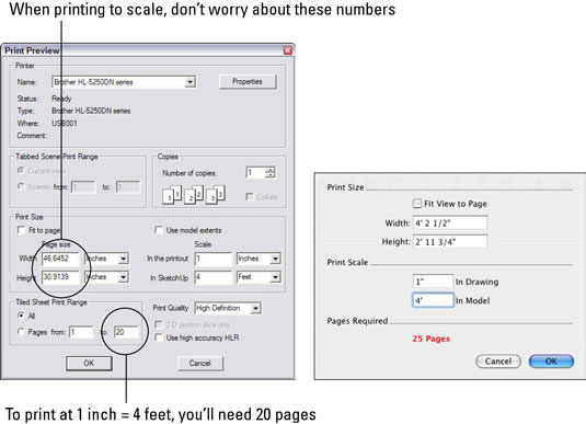 How to Print to Scale from Google SketchUp 8 - dummies