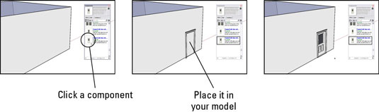How to Insert Doors and Windows in Google SketchUp 8 - dummies