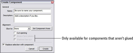 How to Create a New Component in Google SketchUp 8 - dummies