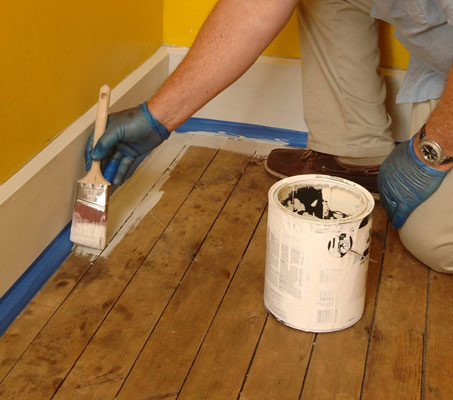 How To Paint Wood Floors Dummies
