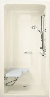Install an ADA-compliant shower unit to increase independence in people with physical limitations.