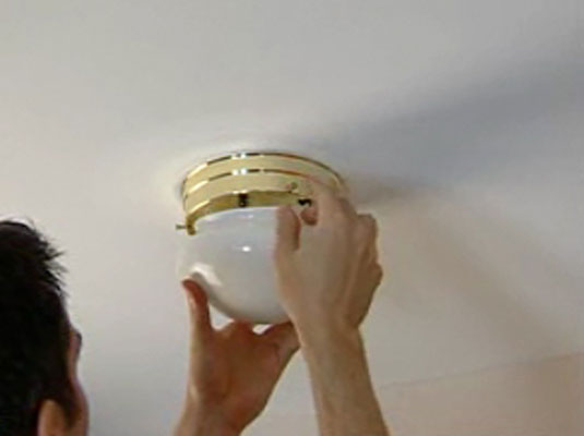 How to replace a ceiling fixture dummies 1turn off the power to the fixture or the whole house aloadofball Choice Image