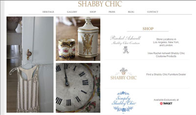 Incorporate vintage furnishings and soft colors as part of Shabby Chic design. [Credit: www.shabbyc