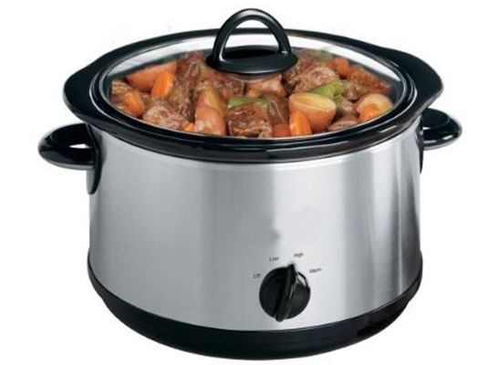 Cooking stew in a Slow cooker.