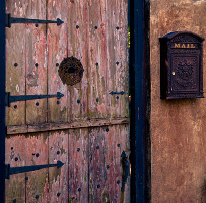 Weathered buildings with original hardware make for interesting photos.