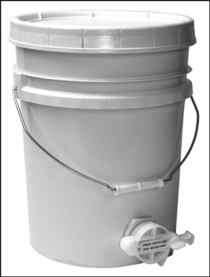 The honey gate valve on this five gallon bucket makes bottling your honey a breeze.