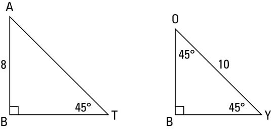 Identifying The 45 45 90 Degree Triangle Dummies