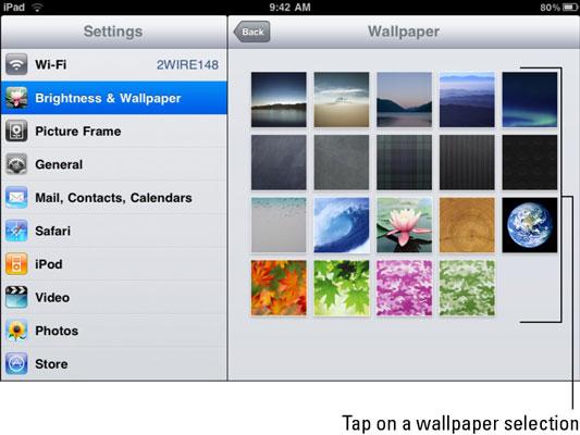 how to change the screen brightness on my ipad