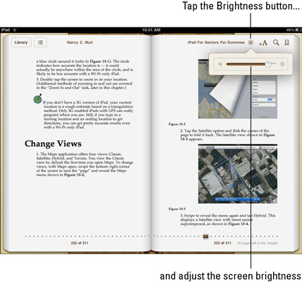 How to Change the Brightness and Font Size on the iBook App - dummies