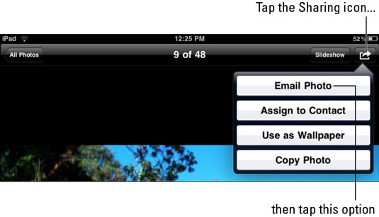 How to E-mail Photos from Your iPad - dummies