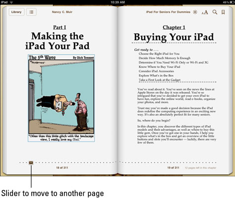 How to Navigate an eBook on Your iPad - dummies